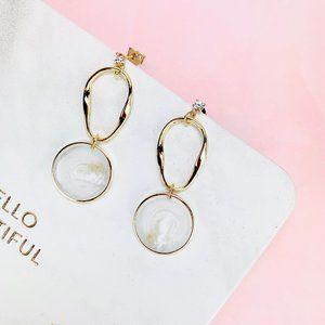 Glamour 14K Gold filled Round Drop Earrings